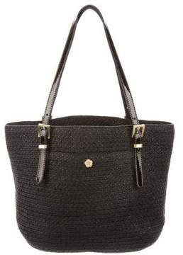 Eric Javits Woven Leather-Trimmed Tote