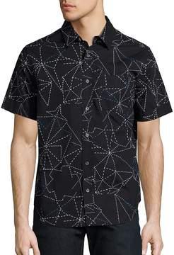 Madison Supply Men's Geometric Printed Shirt
