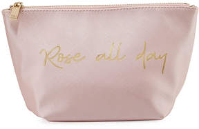 Neiman Marcus Printed Cosmetics Pouch Bag - Rose All Day
