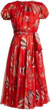 Dolce & Gabbana Fish-print round-neck dress