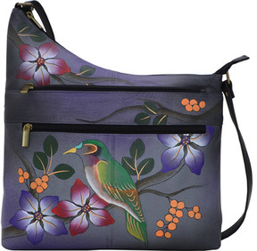 Anuschka Anna By Hand Painted Asymmetrical Crossbody 8199