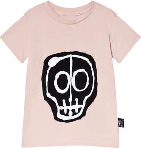 Nununu Powder Pink Skull Mask Patch T-Shirt