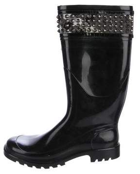 Burberry Studded Rubber Rain Boots
