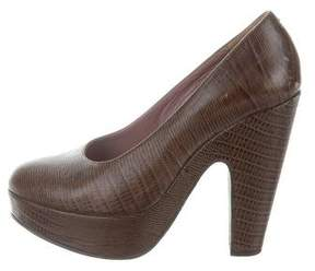 Robert Clergerie Embossed Platform Pumps