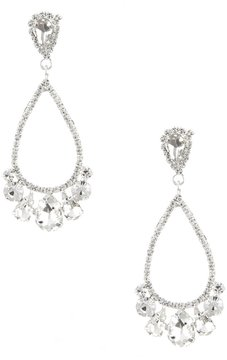 Cezanne Rhinestone Chandelier Statement Earrings