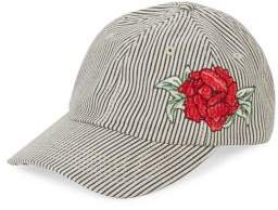 San Diego Hat Company Embroidered Stripe Baseball Cap