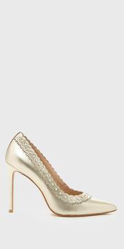 Pour La Victoire Cerella Champagne Embellished Stiletto | Designer Shoes | Shop