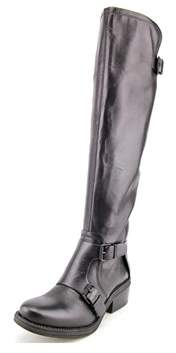 Calvin Klein Jeans Geana Women Round Toe Leather Black Knee High Boot.
