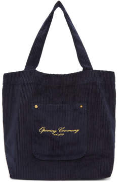 Opening Ceremony Navy Corduroy Big Pocket Tote