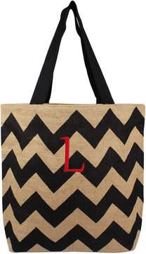 Cathy's Concepts Personalized Black Chevron Tote Bag