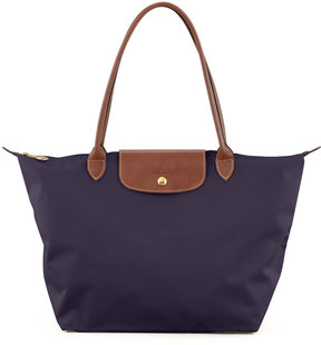 Longchamp Le Pliage Large Monogram Shoulder Tote Bag, Purple