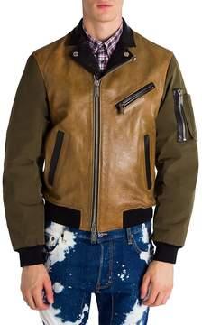 Viktor & Rolf Men's Colorblock Leather Jacket