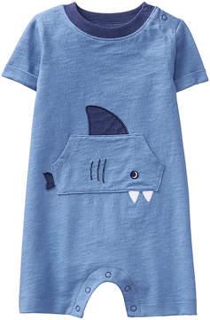 Gymboree Blue Shark Face Romper - Newborn & Infant