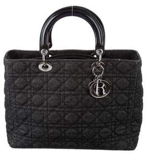 Christian Dior Denim Large Lady Bag