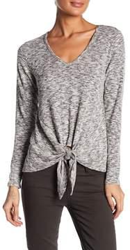 Bobeau Tie Hem Knit Shirt