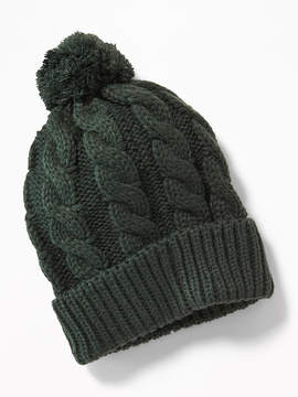 Old Navy Cable-Knit Pom-Pom Beanie for Men