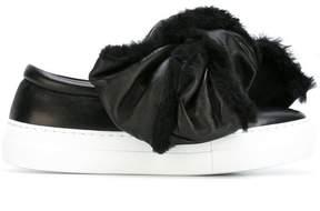 Joshua Sanders oversized shearling bow sneakers