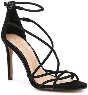 Gianni Bini Talisia Tubular Suede Ankle Strap Dress Sandals