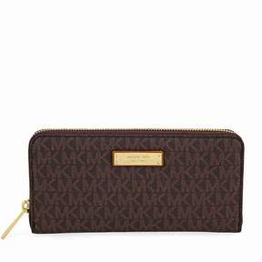 Michael Kors Jet Set Contiental PVC Signature Wallet - Luggage - BROWN - STYLE