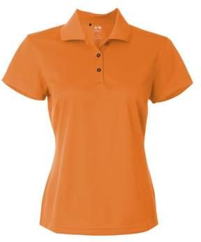 adidas Ladies ClimaLite Basic Polo Shirt. A131 Large Light Orange
