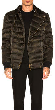 Balmain Double Zip Quilted Down Jacket