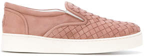 Bottega Veneta woven slip-on shoes
