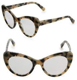Stella McCartney 49MM Beige Tortoishell Cat-Eye Glasses