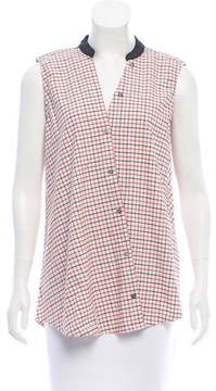 Band Of Outsiders Sleeveless Plaid Top