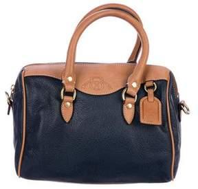 Ghurka Bicolor Leather Satchel