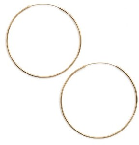 Argentovivo Women's Endless Extra Large Hoop Earrings