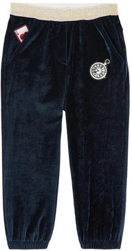 Billieblush Velvet tracksuit pants with patches