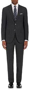 Isaia Men's Sanita Glen Plaid Stretch-Wool Two-Button Suit