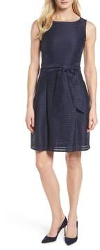 Anne Klein Shadow Stripe Fit & Flare Dress