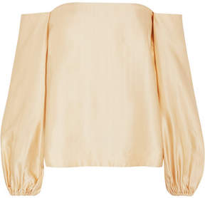 Elizabeth and James Nolita Off-the-shoulder Satin Top - Cream