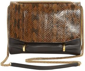 Nina Ricci Brown Leather Clutch Bag