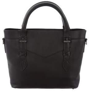 Reece Hudson Grained Leather Satchel