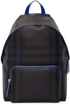 Burberry Navy and Blue London Check Backpack