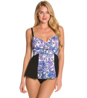 Fit 4 U Fit4U Dolce Underwire Peplum One Piece Swimsuit 8113516
