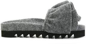 Joshua Sanders ruffle slippers