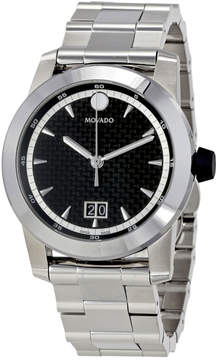 Movado Vizio Black Carbon Fiber Dial Men's Watch