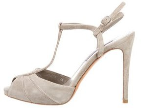 Ralph Lauren Suede T-Strap Sandals