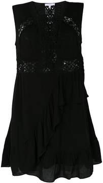 IRO lace insert ruffle dress