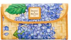 Dooney & Bourke Hydrangea Basketweave Continental Clutch Wallet - PURPLE - STYLE