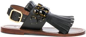 Marni Jewel Leather Sandals