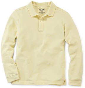 Izod EXCLUSIVE Long-Sleeve Stretch Piqu Polo - Preschool Boys 4-7