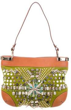Oscar de la Renta Beaded Shoulder Bag