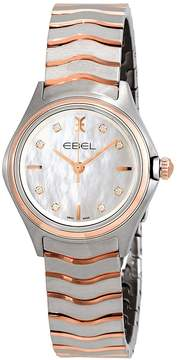 Ebel Wave Mother of Pearl Diamond Dial Ladies Two Tone Watch