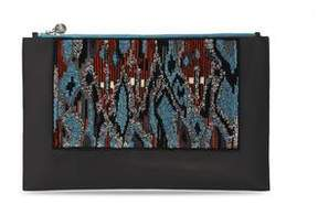 Forest of Chintz Tribal Ikat Leather Clutch