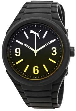 Puma Gummy Black Dial Black Silicone Men's Watch PU103592010U