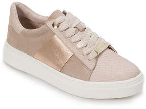 Foot Petals Rose Gold Fallon Leather Sneaker - Women